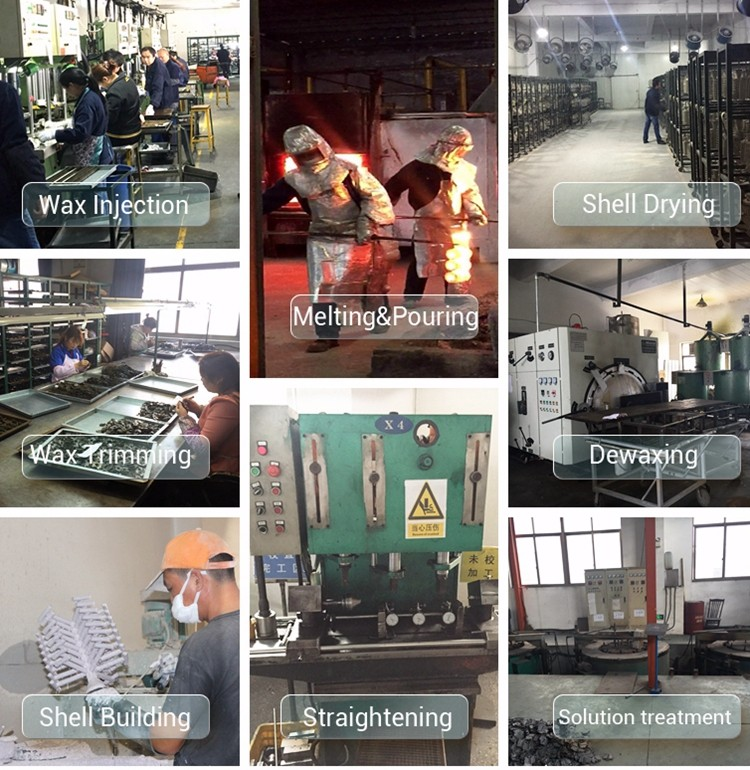 stainless steel investment casting process with straightness
