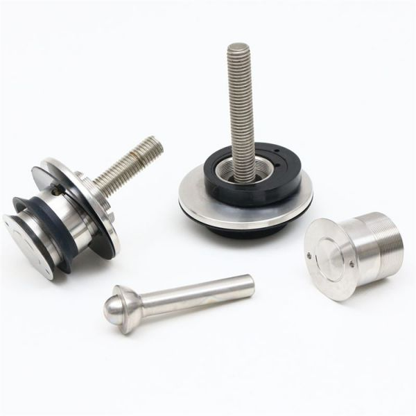 Precision machining stainless steel glass clamp